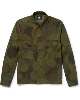 Slim-fit Camouflage-print Cotton-twill Field Jacket