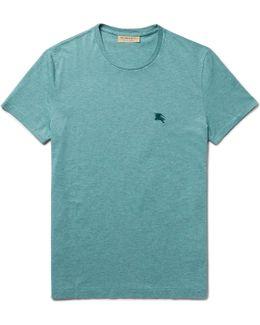 Slim-fit Mélange Cotton-jersey T-shirt