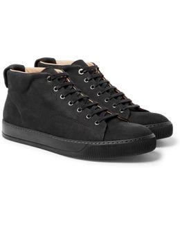 Cap-toe Nubuck High-top Sneakers