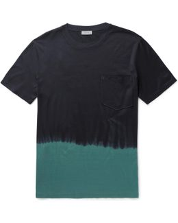Dip-dyed Cotton-jersey T-shirt