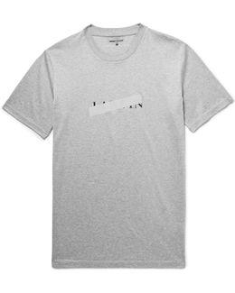 Slim-fit Reflective-trimmed Mercerised Cotton-jersey T-shirt