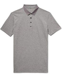 Slim-fit Grosgrain-trimmed Cotton-piqué Polo Shirt