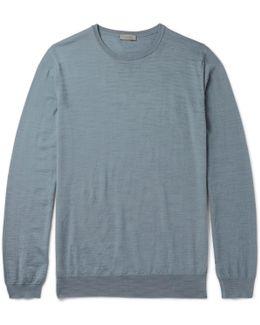 Slub Merino Wool Sweater