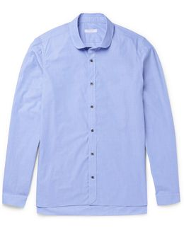 Penny-collar End-on-end Cotton Shirt