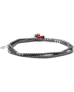 Silver Hematite Wrap Bracelet