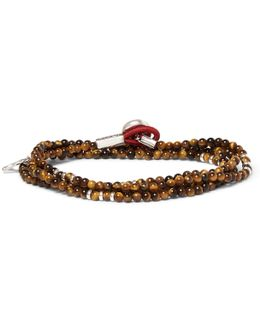 Saracino Tiger's Eye And Silver Wrap Bracelet