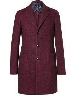 Mélange Wool, Alpaca And Silk-blend Coat