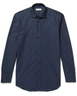 Slim-fit Cotton-jacquard Shirt