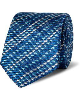 6cm Striped Woven Silk Tie