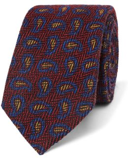 6cm Paisley Wool And Silk-blend Jacquard Tie