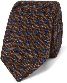 6cm Wool And Silk-blend Jacquard Tie