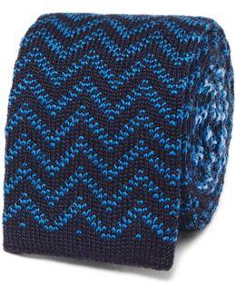 Reversible Jacquard-knit Wool Tie