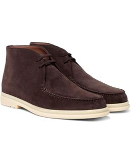 Walk And Walk Suede Chukka Boots