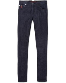Slim-fit Selvedge Stretch-denim Jeans