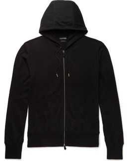 Cotton, Silk And Cashmere-blend Jersey Hoodie