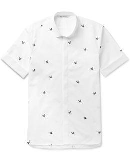 Slim-fit Printed Cotton-poplin Shirt