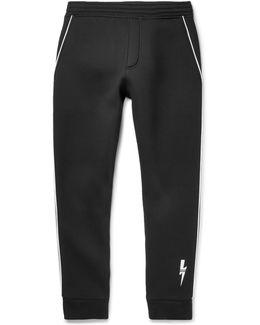 Satin-piped Neoprene Sweatpants