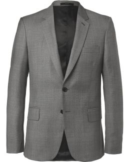 Grey Soho Slim-fit Prince Of Wales Checked Wool Suit Jacket