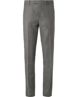 Grey Soho Slim-fit Prince Of Wales Checked Wool Suit Trousers