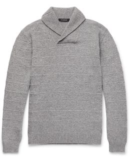 Slim-fit Shawl-collar Cashmere Sweater