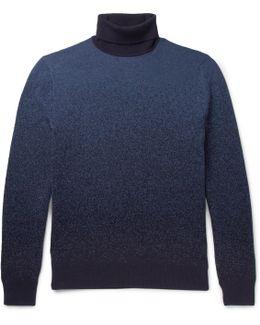 Dégradé Cashmere Rollneck Sweater