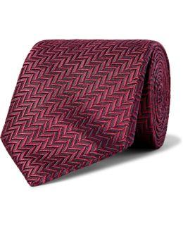 7cm Herringbone Silk Tie