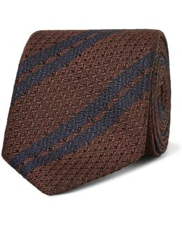7cm Striped Silk Tie