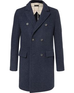 Double-breasted Virgin Wool And Cashmere-blend Coat