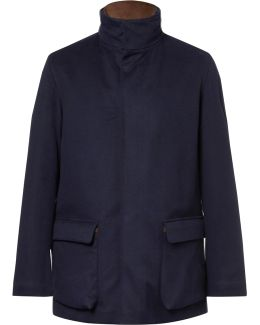 Winter Voyage Suede-trimmed Storm System Baby Cashmere Field Jacket