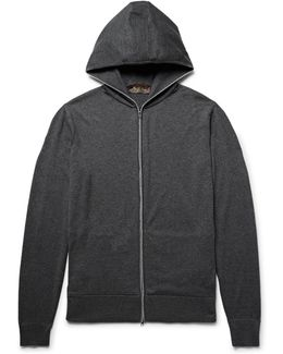 Cotton And Cashmere-blend Zip-up Hoodie