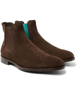 Myron Contrast-trimmed Suede Chelsea Boots