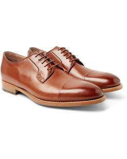 Ernest Cap-toe Polished-leather Derby Shoes
