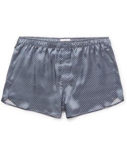Brindisi Printed Silk-satin Boxer Shorts