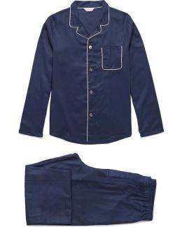 Lombard Cotton-jacquard Pyjama Set