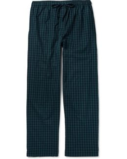 Braemar Checked Cotton-flannel Pyjama Trousers