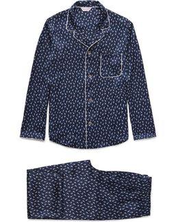 Brindisi Printed Silk Pyjama Set