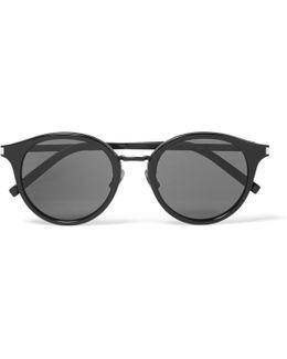 Classic 57 Round-frame Acetate And Gunmetal-tone Sunglasses