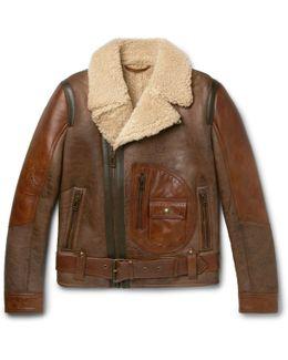 Danescroft Leather-trimmed Shearling Jacket