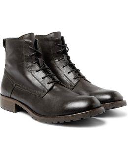 Alperton Burnished-leather Boots