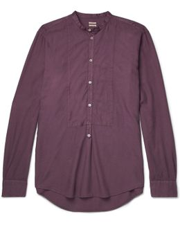 Kos Grandad-collar Modal And Cotton-blend Twill Shirt
