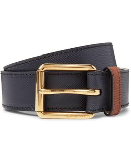3.5cm Embossed Leather Belt