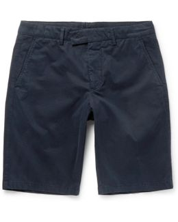 Washed Cotton-twill Shorts