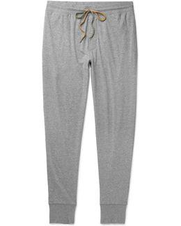Tapered Mélange Cotton-jersey Sweatpants
