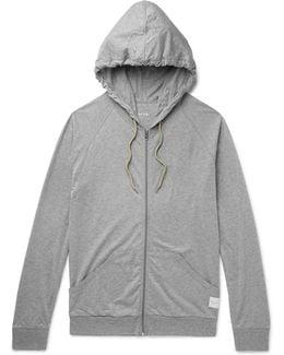 Mélange Cotton-jersey Pyjama Hoodie