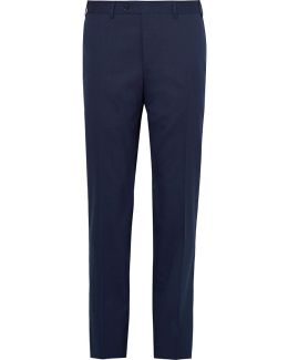 Blue Stretch-wool Suit Trousers