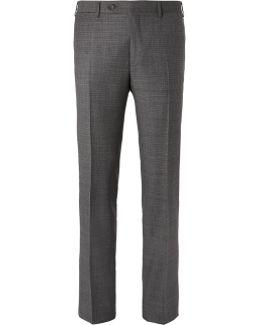 Grey Venezia Slim-fit Super 130s Wool-sharkskin Suit Trousers