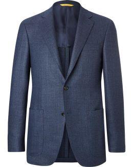 Blue Kei Slim-fit Wool Blazer