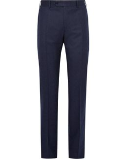 Blue Super 120s Wool-flannel Trousers