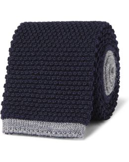 8cm Two-tone Knitted Wool Tie