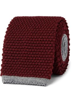 6.5cm Honeycomb-knit Wool Tie